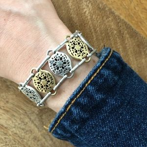 Lucky brand silver and gold toggle bracelet